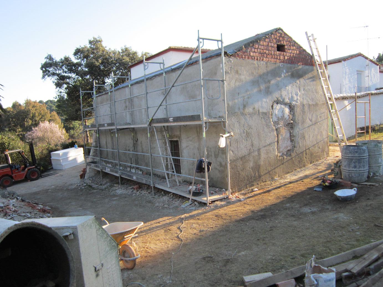 Proyecto y obra de sal n en casa de campo en sierra de for Casa de campo en sevilla para alquilar