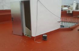 Arreglo de cubierta zona Cruz del Campo. Sevilla